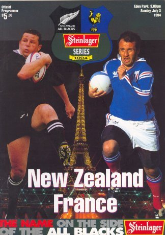 all blacks versus france 1994 series programme