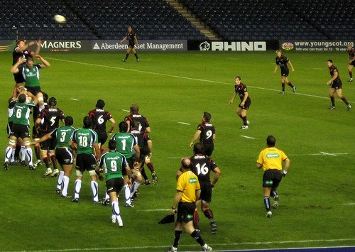 Rugby Lineout and Attacking Backline